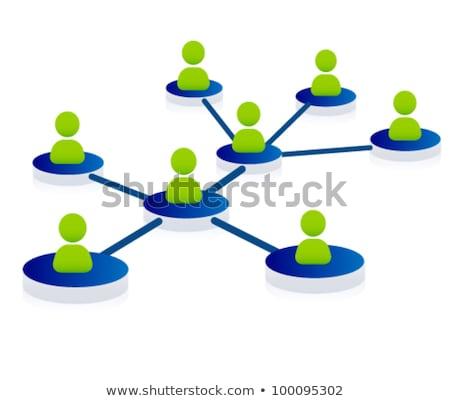 Pictogram groene woorden business technologie Stockfoto © seiksoon