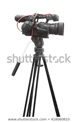 digital video camera side view with clipping path stock photo © winterling