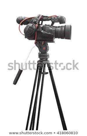 professionelle · digitalen · Videokamera · isoliert · weiß · Technologie - stock foto © winterling