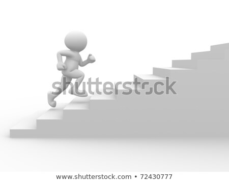 3D People Stairs to Success Stock photo © Quka