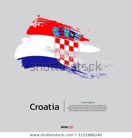 icono · bandera · Bosnia · Herzegovina · metal · marco · viaje - foto stock © zeffss