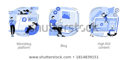 Microbloging Concept. Stock photo © tashatuvango