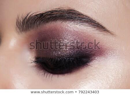 mujer · hermosa · ojo · sombra · cara · moda · modelo - foto stock © wavebreak_media