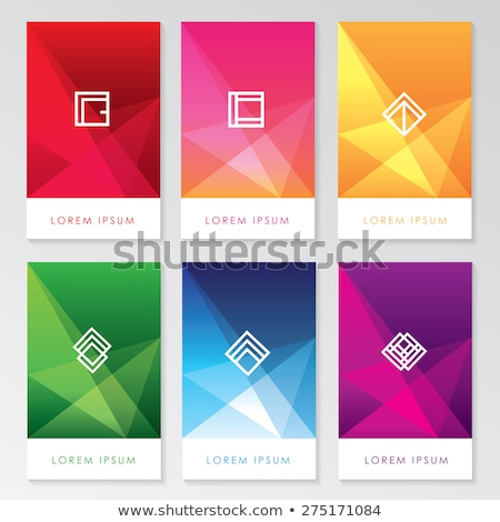 vector collection of abstract colored logos stock photo © butenkow