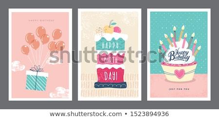testreszabható · születésnap · üdvözlőlap · vonat · absztrakt · háttér - stock fotó © balasoiu
