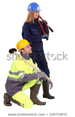 Construction team with boltcutters and a sledgehammer Stock photo © photography33