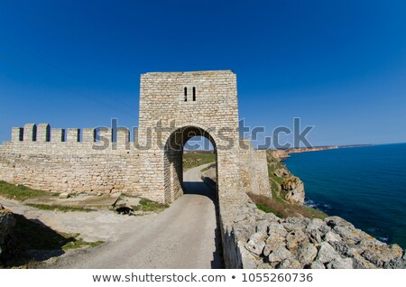Erőd fal Bulgária falak fekete tenger Stock fotó © dinozzaver