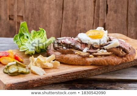 alla · griglia · vegetali · panini · formaggio · cena · insalata - foto d'archivio © stockyimages