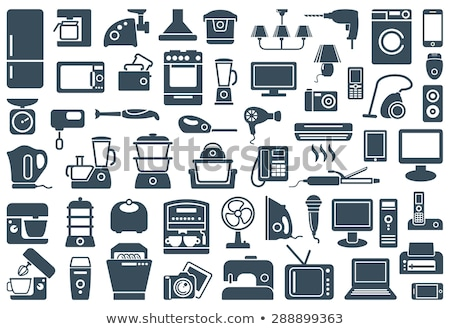 Household appliance icons Stock photo © carbouval