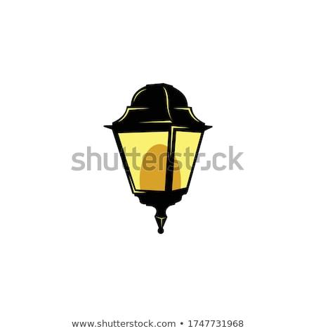Rua lanterna velho parede de tijolos luz urbano Foto stock © stevanovicigor