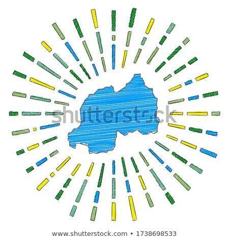 флаг Руанда стороны цвета стране стиль Сток-фото © claudiodivizia