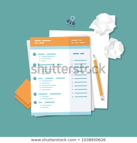 Biały papieru schowek odizolowany biuro szkoły Zdjęcia stock © tungphoto