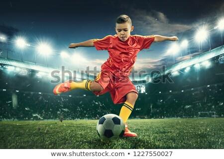 Boy sport player running Stock photo © zzve