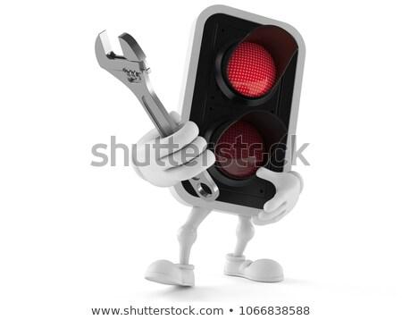 レンチ 赤信号 ツール 鉄 ハードウェア ストックフォト © PlusProduction
