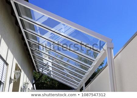 moderne · Blauw · glas · dak · abstract - stockfoto © taden