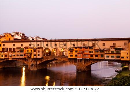 híd · folyó · Florence · reggel · Olaszország · égbolt - stock fotó © anshar