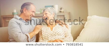 image · portrait · heureux · supérieurs · femme - photo stock © get4net