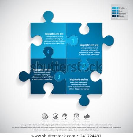 Kirakó darabok növekedés diagram kék üzlet pénz Stock fotó © tashatuvango