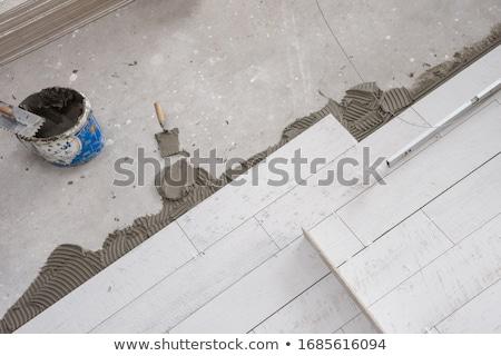 casa · azulejos · trabalhador · limpeza · telha - foto stock © simazoran