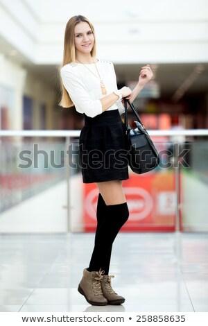 Customer Holding Formal Shoe at Supermarket Stock photo © Kzenon