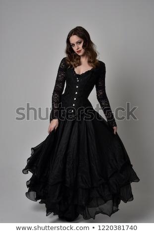 Young slim goth woman. white background. Stock photo © pxhidalgo
