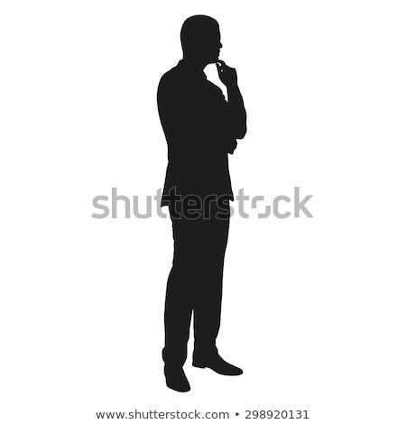 portré · fiatalember · kockás · póló · megérint · arc - stock fotó © pxhidalgo