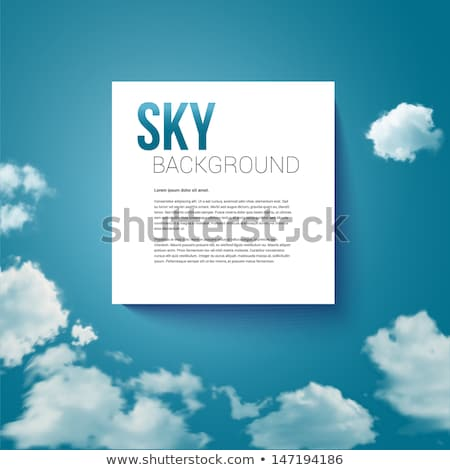 Sky with clouds page layout for Your business presentation. Stock photo © alevtina