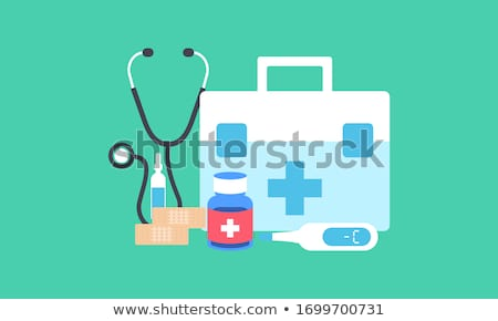 First aid kit with medical products and equipment stock photo © Zerbor