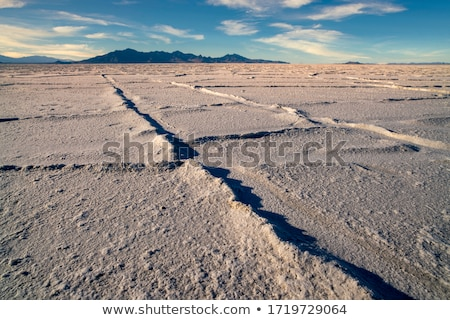 Bonneville Salt Flats Tooele County Utah Pleistocene Lake Sunset Stock photo © cboswell