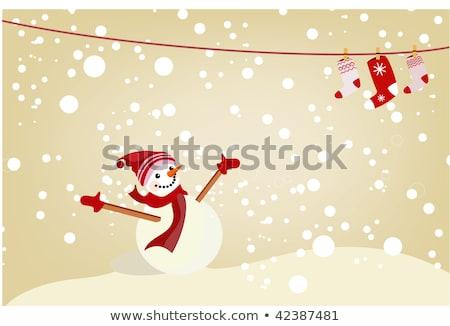 waiting for christmass concept illustration Stock photo © burakowski