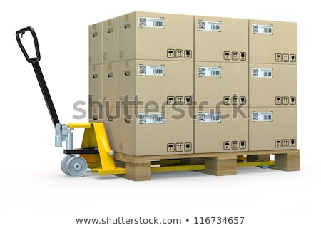 Commodity Logistics - Cardboard Box on Hand Truck. Stock photo © tashatuvango