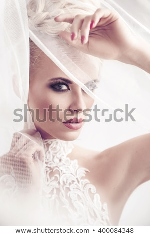 Beauty portrait of delicate blonde woman. stock photo © NeonShot