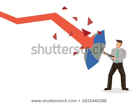 businessman holding umbrella protect graph down Stock photo © ratch0013
