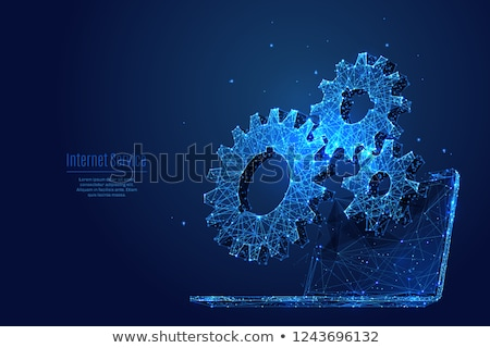 Illustration of gears forming Stock photo © ratch0013
