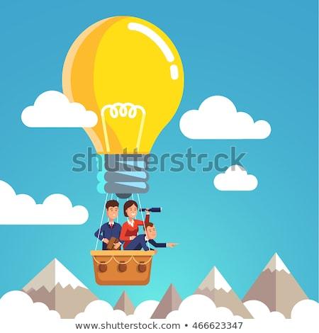 Cloud Solutions on Light Blue in Flat Design. Stock photo © tashatuvango