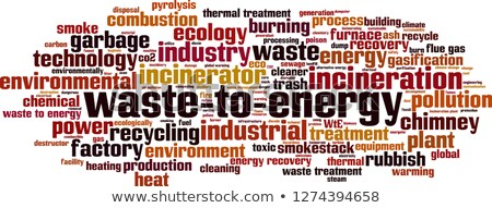 Combustion of waste in a furnace Stock photo © jeancliclac
