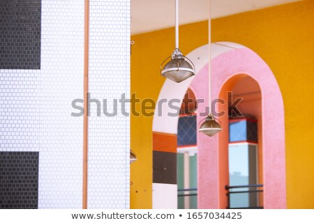 Mosque arch, Interior detail with beautiful decoration. Black an Stock photo © Taiga