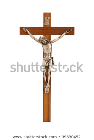 Crucifix with figure of Jesus on white background Stock photo © jarin13
