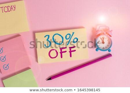 30 százalékok vásár négy színek címkék Stock fotó © marinini