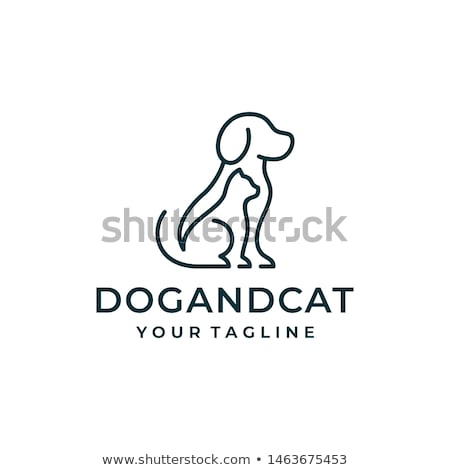 Dog and Cat Outlines stock photo © gleighly
