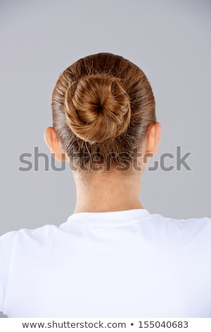 Brunette hair in a neat bun Stock photo © dash