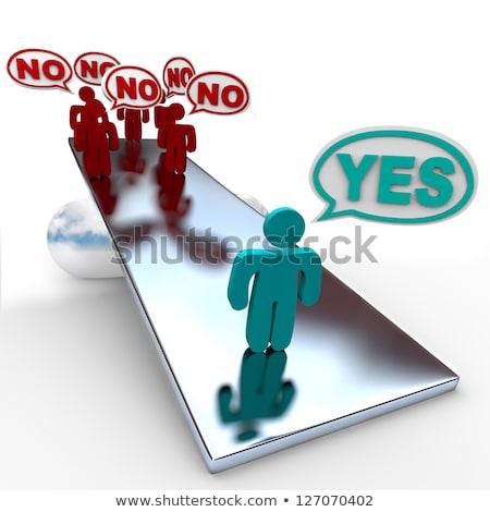 Ja geen heldere groene een einde Stockfoto © 3mc