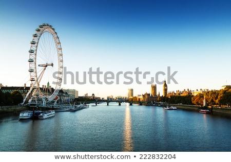 London Anglia sziluett szem Big Ben folyó Stock fotó © photocreo