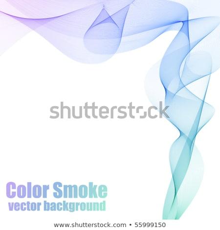 kék · absztrakt · szín · hullám · vektor · füst - stock fotó © olgayakovenko