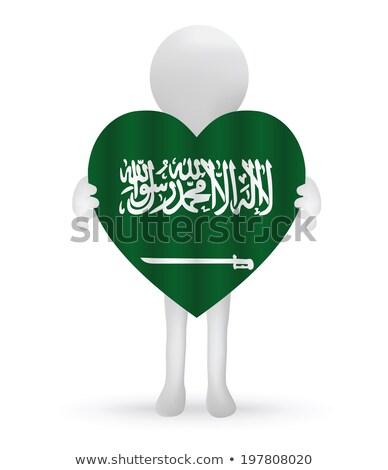 small 3d man holding a Saudi Arabian Flag Stock photo © Istanbul2009