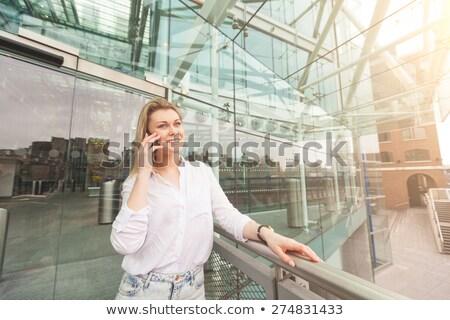 три красивой довольно деловая женщина современное здание бизнеса Сток-фото © Geribody