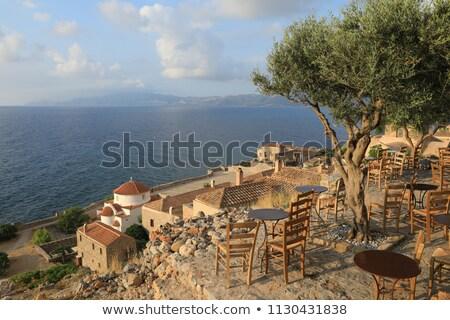 Olajfa görög sziget mező zöld kék Stock fotó © haraldmuc