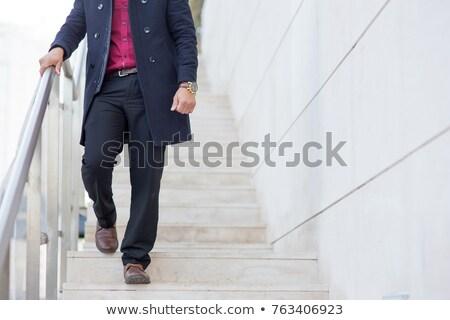 Stockfoto: Man · jonge · man · stad · gelukkig · zomer · stedelijke