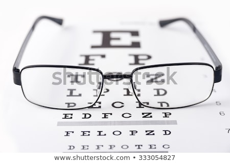 grafiek · typisch · witte · achtergrond · bril - stockfoto © bmonteny