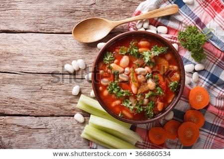 fasulye · çorbası · gıda · tavuk · akşam · yemeği · sıcak · biber - stok fotoğraf © yelenayemchuk
